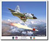 "F-106 Delta Dart - 318th FIS ""The Green Dragons""  Aviation Art"