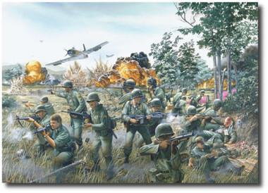 Broken Arrow by Tom Freeman Artist Proof - 7th Cav- Ia Drang Valley Vietnam 1965
