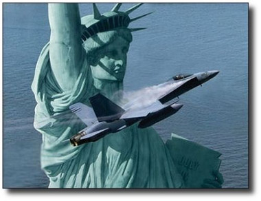 Liberty Rising by Dru Blair - F-18 Hornet
