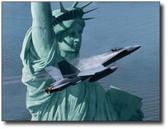 Liberty Rising by Dru Blair - F-18 Hornet Aviation Art