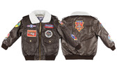 Children's A-2 Bomber Jacket w/ 9 patches