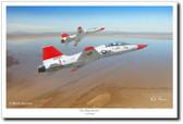 The White Rocket by Mark Karvon – T-38 Talon Glicee Aviation Art