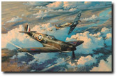 Height Of The Battle by Robert Taylor - Luftwaffe He111 bombers Aviation Art