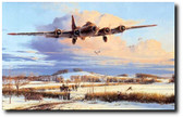 Winter's Welcome by Robert Taylor - B-17 Fortress
