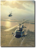 Rolling on the River by William S. Phillips - Bell UH-1 Iroquois helicopters