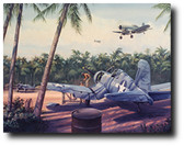 "Pacific Airbase by Jim Laurier - Marine F4U-1 Corsair ""Birdcage"""