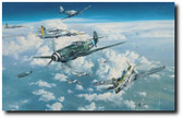Heading Into The Clash by Robert Taylor Aviation Art