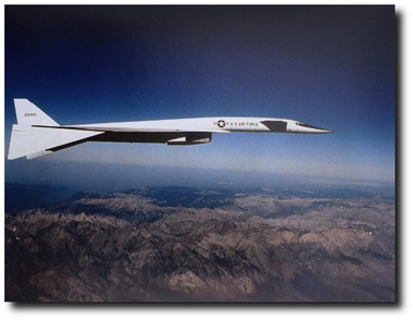 XB-70 Over The Mountains - Photo - Aviation Art