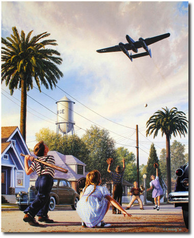 The Spider and the Fly w/ Pilot Signature by Stan Vosburg - P-61 Black Widow