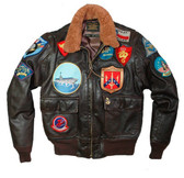 """Movie Heroes"" Top Gun Navy G-1 Jacket (LONG)"