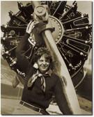 Amelia Earhart with Radial Engine -