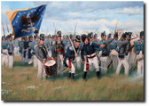 Grey Coats and Cold Steel (A/P) by Larry Selman - War of 1812 - Military Prints