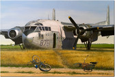 The Clubhouse by David Gray - Fairchild C-119 Boxcar - Aviation Art Print
