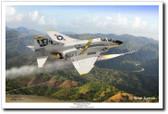 "Defender of the Fleet by Mark Karvon - VF-84 ""Jolly Rogers""  F-4B Phantom II"