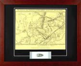 2nd Battle of Bull Run Map with Civil War bullet