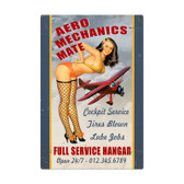 Aero Mechanics Mate Metal Sign