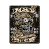 Airborne All The Way Vintage Metal Sign