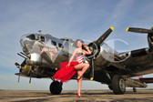 """Angela"" with the B-17 Flying Fortress"