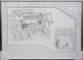 C-130 Pencil Drawing w/ Inset