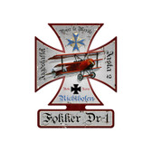 Fokker DR-1 Iron Cross Metal Sign