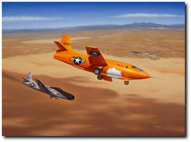 """Hey Pard, You'll get a Free Steak at Pancho's Tonight"" by Mike Machat - Bell X-1"