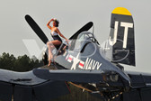 """Kelly"" with the F4U Corsair"