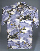 Lagoon Blue -  Hawaiian Aviation Shirt