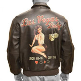 """Las Vegas Lady"" A-2 ""Good Luck Pin-Up"" Jacket"