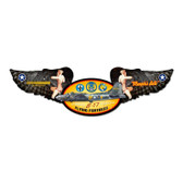 Memphis Belle Winged Oval Metal Sign