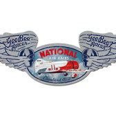 National Air Races Winged Oval Metal Sign