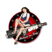 Spark Plug Pinup Clock