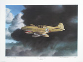 "Tiger with a Tale by Aviation Artist Mike Machat. A Rare Aviation Art print signed by Robert L. ""Bob"" Scott Jr."
