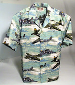 Sea Foam Green - Hawaiian Aviation Shirt