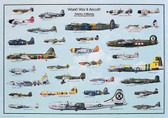 WWII Planes (ERO-02)  Aviation Art