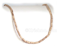 Natural Elongated Tulasi Neck Beads, 47""