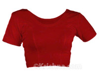 Pullover Knit Choli, Red