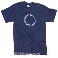 Circular Mantra T-shirt, Navy