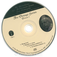 Srila Prabhupada Vintage Series, Volume 1, CD