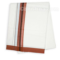 Summer Cotton Dhoti, Brick-Red