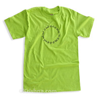Circular Mantra T-Shirt, Lime