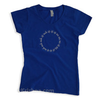 Circular Mantra Ladies' V-Neck T-Shirt, Royal Blue