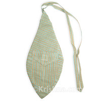 X-Large Khadi Bead Bag, Pocket, Aqua & Tan