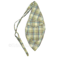 X-Large Khadi Bead Bag, Pocket, Blue & Green Plaid