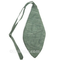 X-Large Khadi Bead Bag, Pocket, Gray-Green