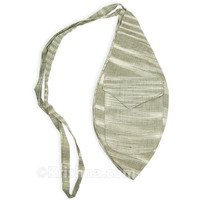Large Khadi Bead Bag, Pocket, Gray-Green