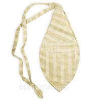 Large Khadi Bead Bag, Pocket, Tan