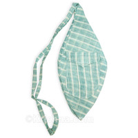 Large Summer Khadi Bead Bag, Pocket, Blue
