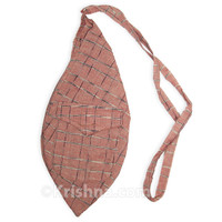 Large Summer Khadi Bead Bag, Pocket, Rose Khadi