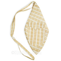 Large Summer Khadi Bead Bag, Pocket, Tilak