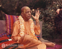 "Srila Prabhupada Photo, Lecturing in Garden, 5""x7"""